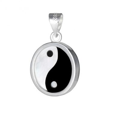925 silber anh nger mit yin und yang symbol dragonfruit shop. Black Bedroom Furniture Sets. Home Design Ideas